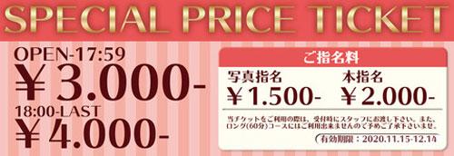 3000円で利用できるスペシャルチケット
