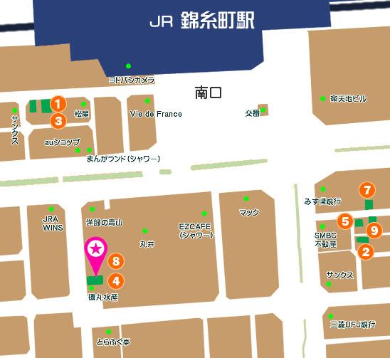 錦糸町フレグランスマップ