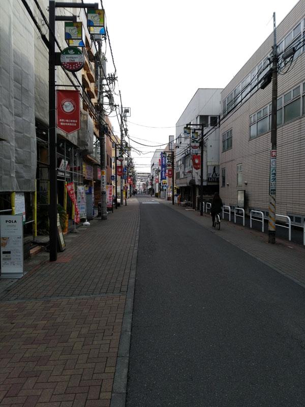 越谷東口の商店街