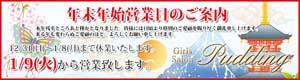 新橋プリンは30日まで営業、31日~1月8日は休業日、1月9日から通常営業となります