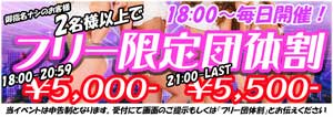新宿にゃんパラフリー限定18時~5000円、21時~5500円