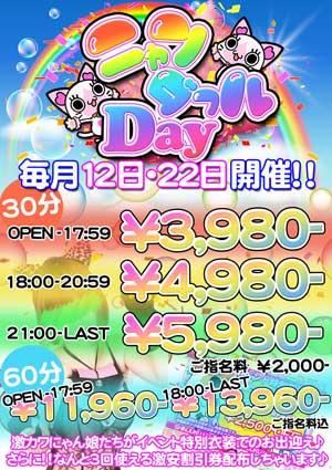 新宿にゃんパラ最安なんと3980円から遊べちゃうんです!