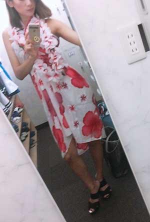 五反田マリンサプライズパレオ衣装でお出迎え