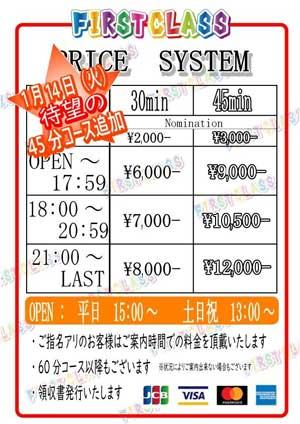 大和ファーストクラス45分最安9000円~