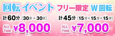 錦糸町ヴァージニティー30分+30分のダブル回転が8000円